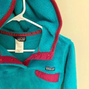 Patagonia Women's Re-Tool Turquoise Fleece Hoody-M